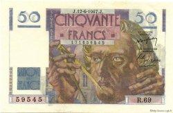 50 Francs LE VERRIER FRANCE  1947 F.20.08 pr.NEUF