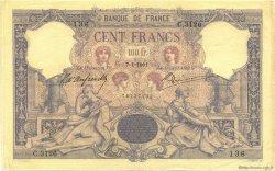 100 Francs BLEU ET ROSE FRANCE  1901 F.21.15 TTB+