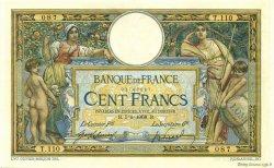 100 Francs LUC OLIVIER MERSON avec LOM FRANCE  1908 F.22.01 SUP+