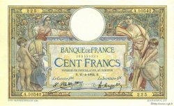 100 Francs LUC OLIVIER MERSON grands cartouches FRANCE  1924 F.24.02 SUP+