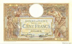 100 Francs LUC OLIVIER MERSON type modifié FRANCE  1939 F.25.41 pr.SPL