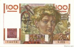 100 Francs JEUNE PAYSAN FRANCE  1947 F.28.16 NEUF