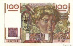 100 Francs JEUNE PAYSAN FRANCE  1949 F.28.24 SPL+