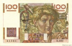 100 Francs JEUNE PAYSAN FRANCE  1953 F.28.39 pr.NEUF