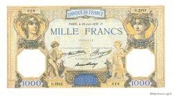 1000 Francs CÉRÈS ET MERCURE FRANCE  1937 F.37.10 SPL+