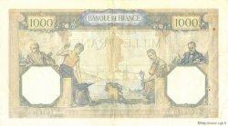 1000 Francs CÉRÈS ET MERCURE type modifié FRANCE  1937 F.38.01 TTB