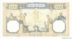 1000 Francs CÉRÈS ET MERCURE type modifié FRANCE  1937 F.38.07 SPL