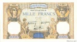 1000 Francs CÉRÈS ET MERCURE type modifié FRANCE  1938 F.38.21 SUP+