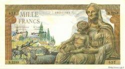 1000 Francs DÉESSE DÉMÉTER FRANCE  1942 F.40.13 pr.NEUF