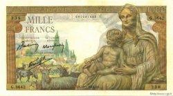 1000 Francs DÉESSE DÉMÉTER FRANCE  1943 F.40.17 SPL