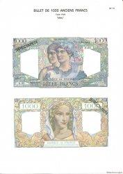 1000 Francs MINERVE ET HERCULE FRANCE  1975 F.41.0 NEUF