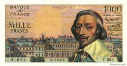 1000 Francs RICHELIEU FRANCE  1957 F.42.26 SPL