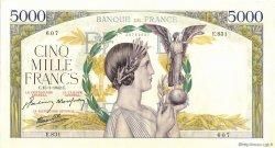 5000 Francs VICTOIRE Impression à plat FRANCE  1942 F.46.33 pr.SPL