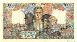 5000 Francs EMPIRE FRANÇAIS FRANCE  1946 F.47.50 pr.SPL