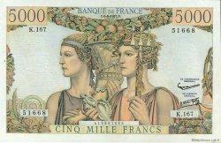 5000 Francs TERRE ET MER FRANCE  1957 F.48.15 SUP à SPL