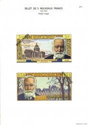 5 Nouveaux Francs VICTOR HUGO FRANCE  1975 F.56pl NEUF