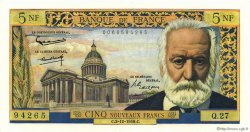 5 Nouveaux Francs VICTOR HUGO FRANCE  1959 F.56.04 NEUF