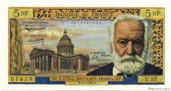 5 Nouveaux Francs VICTOR HUGO FRANCE  1960 F.56.05 NEUF