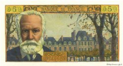 5 Nouveaux Francs VICTOR HUGO FRANCE  1961 F.56.09 NEUF