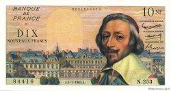 10 Nouveaux Francs RICHELIEU FRANCE  1963 F.57.22 pr.NEUF