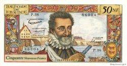 50 Nouveaux Francs HENRI IV FRANCE  1959 F.58.04 SPL+