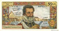 50 Nouveaux Francs HENRI IV FRANCE  1960 F.58.05 pr.NEUF