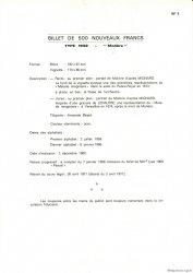 500 Nouveaux Francs MOLIÈRE FRANCE  1975 F.60.0 NEUF