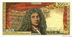500 Nouveaux Francs MOLIÈRE FRANCE  1965 F.60.08 SUP+
