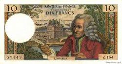 10 Francs VOLTAIRE FRANCE  1965 F.62.15 pr.SPL