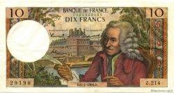10 Francs VOLTAIRE FRANCE  1966 F.62.19 SUP+