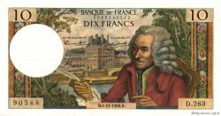 10 Francs VOLTAIRE FRANCE  1966 F.62.23 SUP+