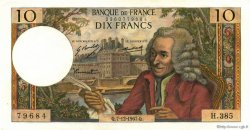 10 Francs VOLTAIRE FRANCE  1967 F.62.30 SUP+