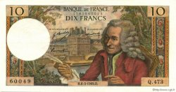 10 Francs VOLTAIRE FRANCE  1969 F.62.37 SUP