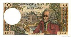 10 Francs VOLTAIRE FRANCE  1969 F.62.38 SPL+