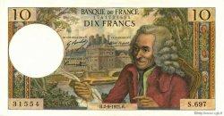 10 Francs VOLTAIRE FRANCE  1971 F.62.51 SPL+