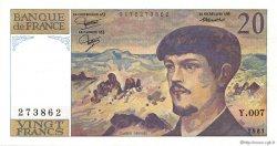 20 Francs DEBUSSY FRANCE  1981 F.66.02 pr.NEUF