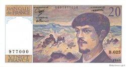 20 Francs DEBUSSY FRANCE  1989 F.66.10 SPL+