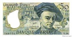 50 Francs QUENTIN DE LA TOUR FRANCE  1982 F.67.08 pr.SPL
