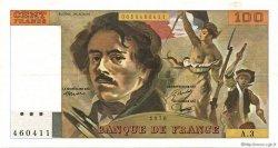 100 Francs DELACROIX FRANCE  1978 F.68.03 SUP