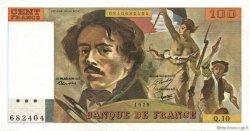 100 Francs DELACROIX modifié FRANCE  1979 F.69.02b SUP