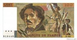 100 Francs DELACROIX modifié FRANCE  1983 F.69.07 pr.SPL