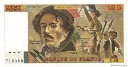 100 Francs DELACROIX modifié FRANCE  1983 F.69.07 SUP+