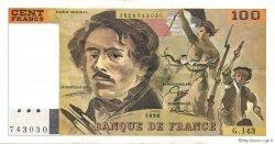 100 Francs DELACROIX imprimé en continu FRANCE  1990 F.69bis.01b8 SUP+