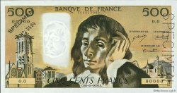 500 Francs PASCAL FRANCE  1968 F.71.00s2 NEUF