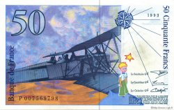 50 Francs SAINT-EXUPÉRY sans STRAP FRANCE  1993 F.72qua.02 SPL