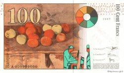 100 Francs CÉZANNE FRANCE  1997 F.74.00 NEUF