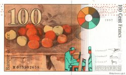 100 Francs CÉZANNE sans STRAP FRANCE  1997 F.74bis.01 pr.NEUF