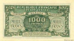 1000 Francs MARIANNE Chiffres gras FRANCE  1945 VF.12.01 pr.SPL