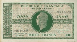1000 Francs MARIANNE chiffres maigres FRANCE  1945 VF.13.02 pr.SUP