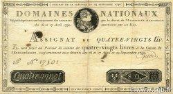 80 Livres FRANCE  1790 Ass.07a pr.TTB